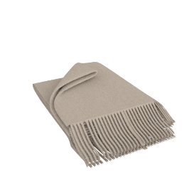 Premium Cashmere Throw, Putty