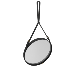 Adnet Mirror, Large - Black