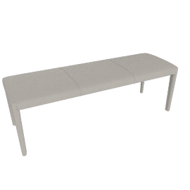 Vella Bench 48'', Warm Grey