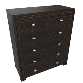 Croco Textured 6-Drawer Chest of Drawers
