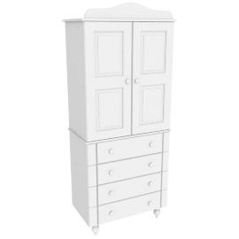 Arabella Combi Wardrobe, White
