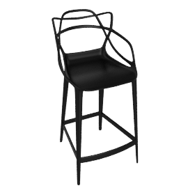Masters Counter Stool, Black