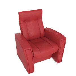 Gemini Reclining Armchair, Cranberry