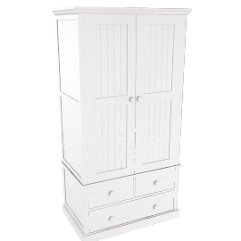 Ashton white 2 door wardrobe