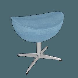 Egg™ Footstool - Tonus Fabric - Cloud