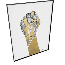 Sign Language XI by KelliEllis - 54''x72'', Black