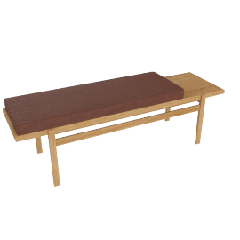 Jens Bench, Oak, Elmosoft Leather - Saddle