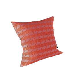 Maharam Pillow in Repeat Classic Houndstooth 17X17, Watermelon