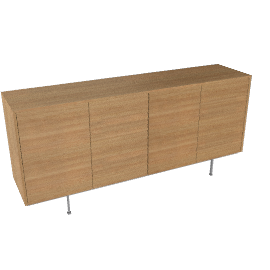 Sussex Tall Credenza with Four Drawers - Walnut