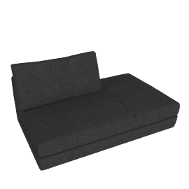 Reid Side Chaise in Fabric, Right