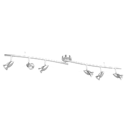 Soyuz 6 Spotlight Ceiling Bar, Polished Steel