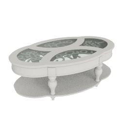 Fiesta Coffee Table, Pearl White