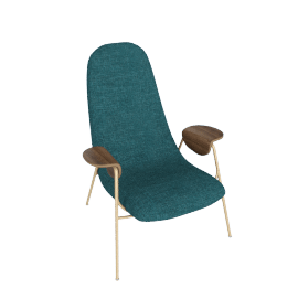 Drew Accent Chair, Teal