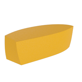 Frank Gehry Bench, Yellow