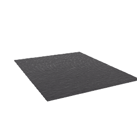 Broken Stripe Rug - 8x10 - Charcoal