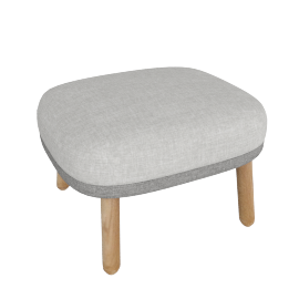 Ro Footstool, Light Grey