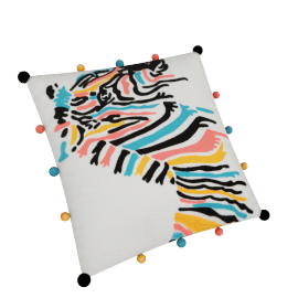 Zebra Filled Cushion - 45x45 cms