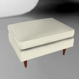 Bantam Chair Ottoman - Vienna leather.Ivory