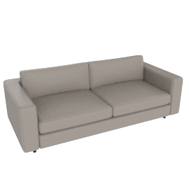 Reid 86'' Sofa in Vienna leather, Warm Grey