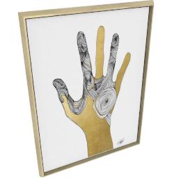 Sign Language I by KelliEllis - 36''x48'', Gold