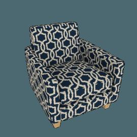 Apartment Club Chair, Luna Stripe