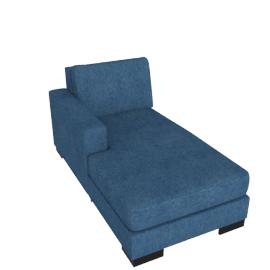 Signature Chaise Left, Blue