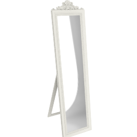 Pimlico Cheval Mirror, H180 x W46cm, Cream