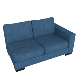 Signature 2 Seater With Right Arm, Blue