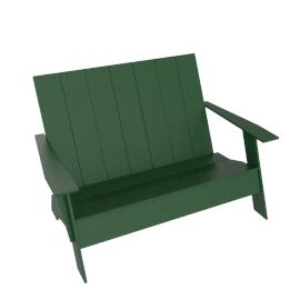 Adironack Two-Seater Bench, British Green