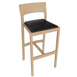 Profile Barstool, Oak