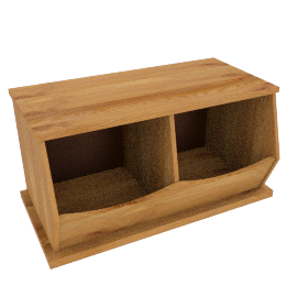 Storage Box Double, Oak