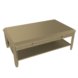 Amber Coffee Table, Champagne Gold