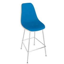 Eames Upholstered Molded Fiberglass Barstool