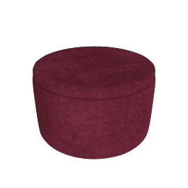 Retina Quilted Ottoman with Storage, Red