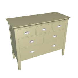 New England Low 6 Drawer Chest