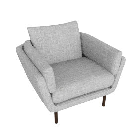 Loki Armchair, Arden Blue Grey