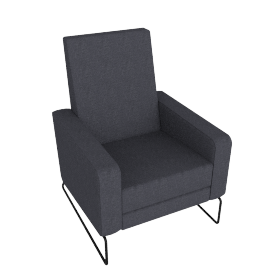 Flight Recliner, Pebble Weave Pumice with Black Base