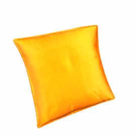 Silk Cushion, Orange