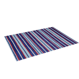 Luke Striped Rug - 120x160 cms, Blue