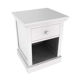 Ashton white bedside table