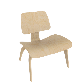Eames Molded Plywood LCW, White Ash