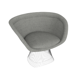 Platner Lounge Chair, Bouclé