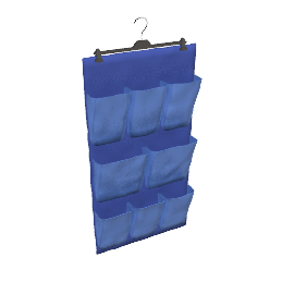 Hanging Organizer, Canvas, Navy/Blue