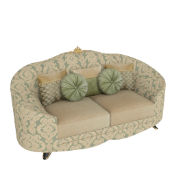Cameron 2 Seater, Teal Gold