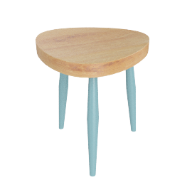 Packington Side Table, Blue/Natural