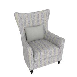 Elizabeth Accent Chair Chevron