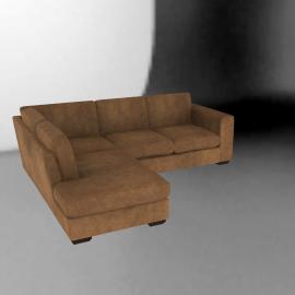 John Lewis Felix Leather LHF Chaise Corner SofaAshanti Hide