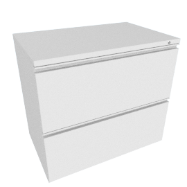 Tu W-Pull Freestanding Lateral File, White
