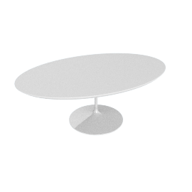 Saarinen Low Oval Coffee Table - Laminate - White.White