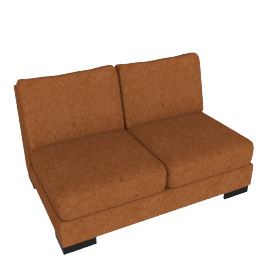 Signature 2 Seater Armless, Orange